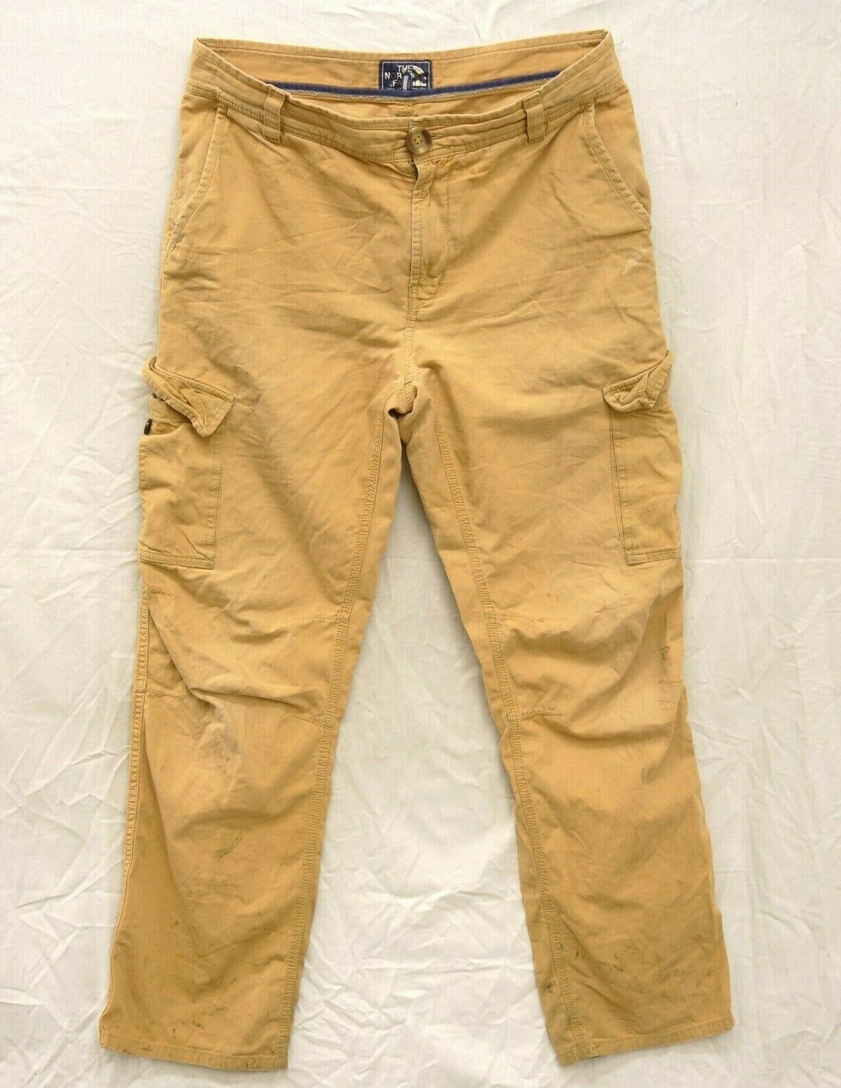 The North Face Mens Sz 32 Regular Tan Cargo Trail Pants Midweight Woven