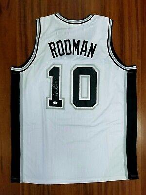 hot sale online 3670a cce69 Dennis Rodman Autographed Signed Jersey San Antonio Spurs JSA | eBay