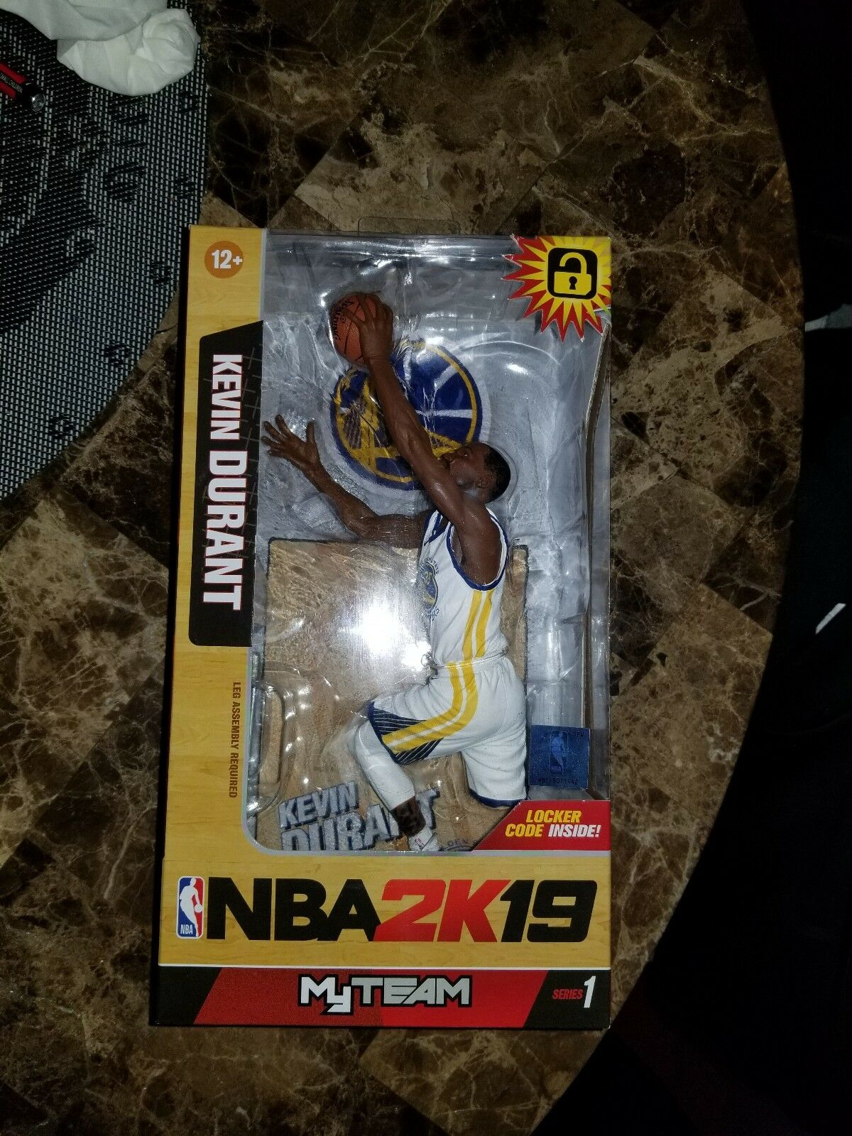 McFarlane Walmart Exclusive NBA 2K19 Action Figure Kevin Durant golden State