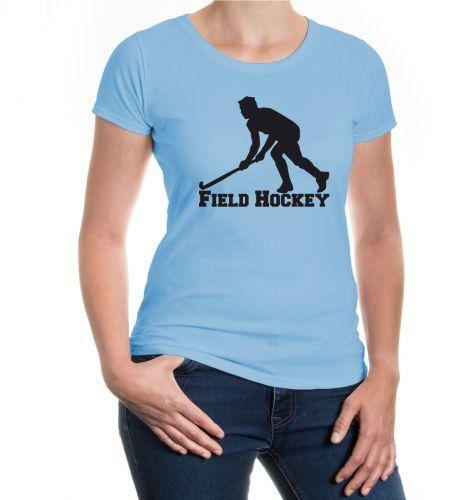 Damen Kurzarm Girlie T-Shirt Field Hockey Feldhockey  Fanshirt Trikot kaufen