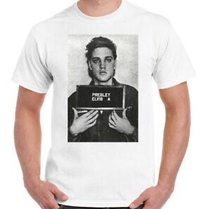 Elvis-Presley-T-Shirt-Mens-Mugshot-Unisex-Top