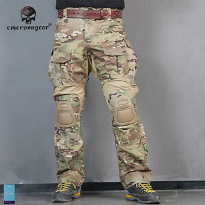Emerson-G3-Combat-Pants-w-Knee-Pads-Airsoft-Tactical-Trousers-MultiCam-Military