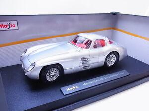 34015-maisto-36898-Mercedes-Benz-MB-300-SLR-uhlenhaut-maqueta-de-coche-1-18-nuevo-embalaje-original