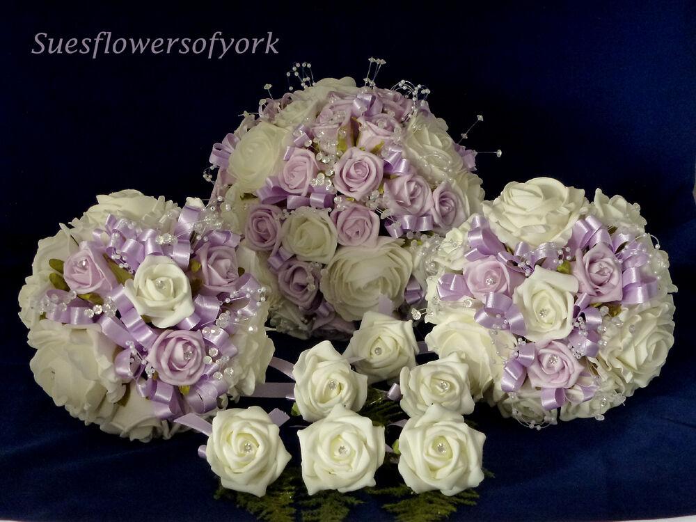 Mariage Fleurs = brides Complet Mariage Set violets d'autres couleurs sont disponibles