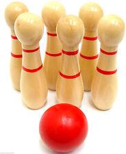 Desk Top Skittles Wooden Skittles Game Mini Office Bowling Set Kids
