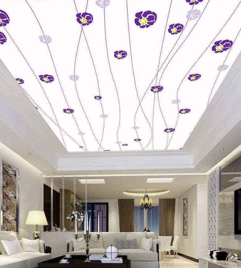 viola Good Flowers Full Wall Wall Wall Mural Photo Wallpaper Print 3D Ceiling Decor Home e23f01