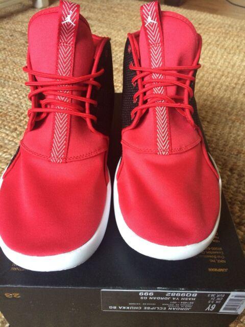 9ea2512a07d NIKE Jordan Eclipse Chukka BG Shoes Trainers UK 5.5 Black Red BNIB New In  Box