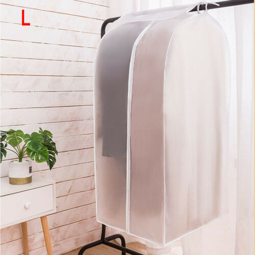 Non-woven Hanging Clothes Bag Dust Cover For Storage Clothes Hanging Suit S-XL