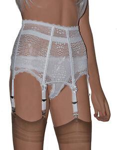 1e9134c2a Boned 6 Strap Suspender Belt. All Lace High Waist Garter Belt in ...