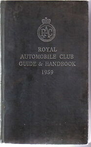 Image Is Loading RAC Book Royal Automobile Club Guide Amp Handbook