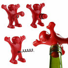 Creative Bar Red Happy Man Sir Wine Bottle Novelty Opener Stopper Corkscrew Tool