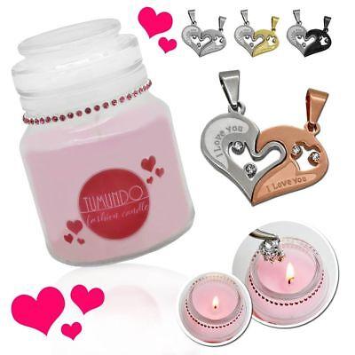 Valentinstags Schmuckkerze Tumundo Fashion Candle Liebe Buchstabe Kettenanhänger