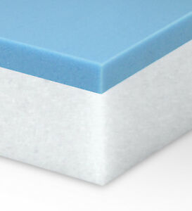 Twin XL 2 inch Thick Accu-Ease 4.3 Memory Foam Mattress Topper-Made in the USA