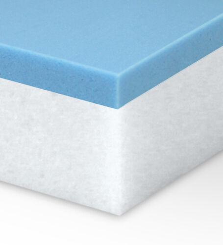 Full Size 3 inch Thick Accu-Gel Memory Foam Mattress Topper-Made in the USA