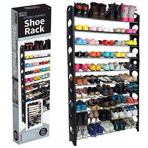 1 Pack 10-Shelf Hanging Closet Shoe Organizer Organizador de Zapatos