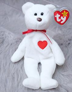 8144a593da6 Image is loading Ty-Valentino-Beanie-Baby-Bear-Heart-with-Errors-