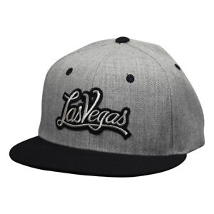 d682b3211a4aa Las Vegas Snapback Hat by LET S BE IRIE - Heather Gray and Black