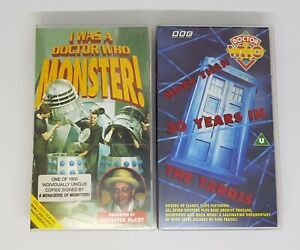Signed-I-WAS-A-DOCTOR-WHO-MONSTER-VHS-video-30-Year-DOCUMENTARY