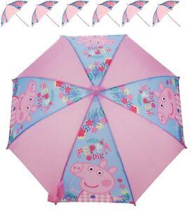 Pratique Nickelodeon Peppa Pig George Filles Pluie Parapluie Enfants École Panneau Brolly Cadeau-afficher Le Titre D'origine ModèLes à La Mode