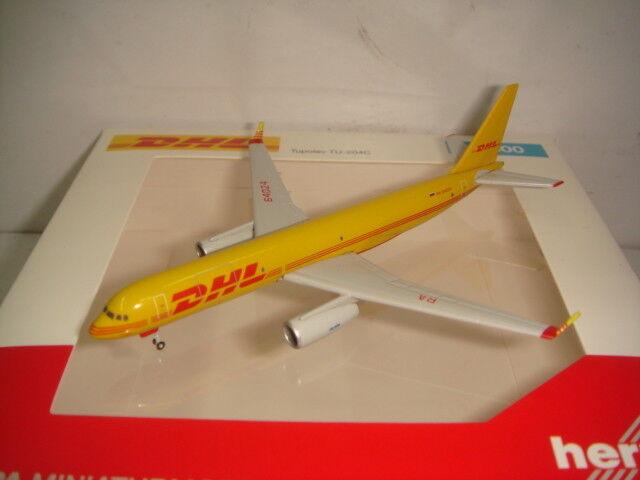 Herpa Wings 500 DHL Aviastar Tupolev TU-204-100  2003s Coloreee  1 500 NG