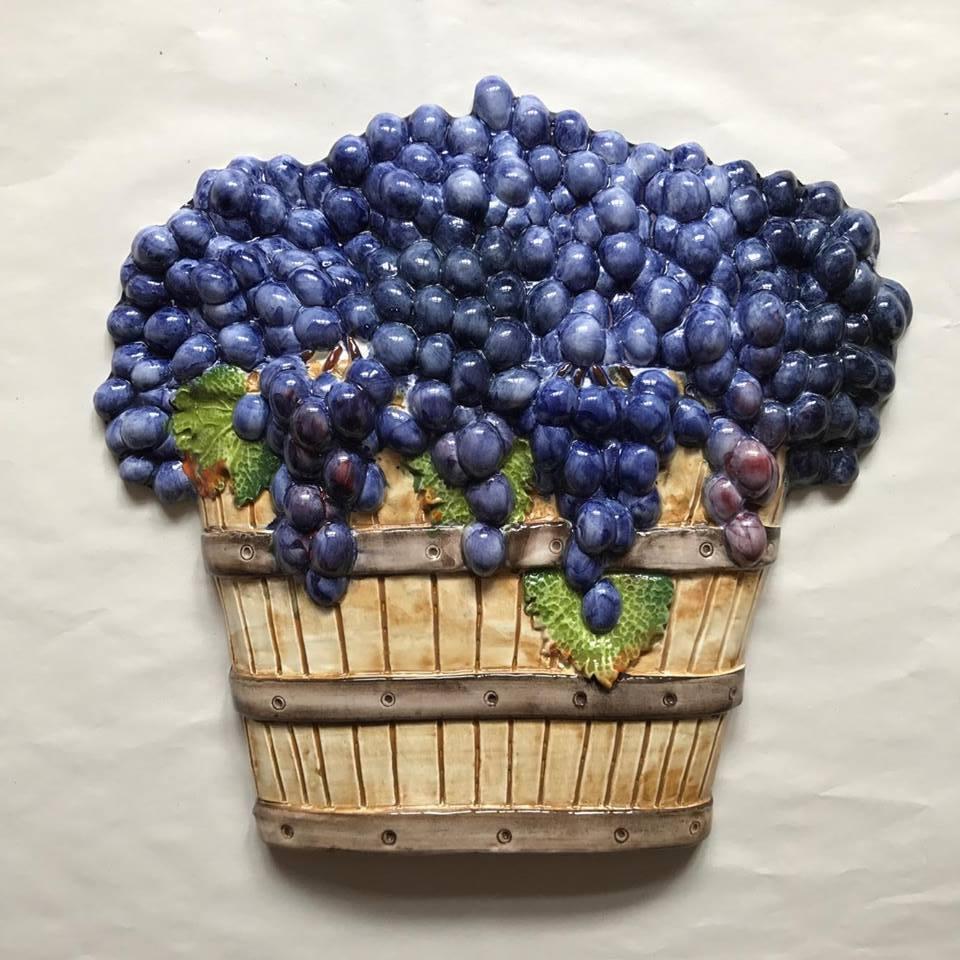 Bassano ceramica uva 3d 40cm Muro Decorazione-dall' ITALIA NUOVO