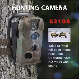 Bestok 12MP HD IP54 IR Scouting Digital Hunting Trail Game Cam Camera+8g