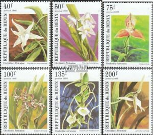 Benin Never Hinged 1995 Orchids Possessing Chinese Flavors Benin 710-715 Unmounted Mint