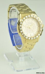 New-guess-gold-steel-watch-women-neuf-u0018l2