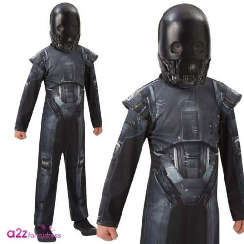RUBIE/'S Bambini Ufficiale Rogue uno K-2S0 Droid Star Wars Costume Deluxe 5-14 anni