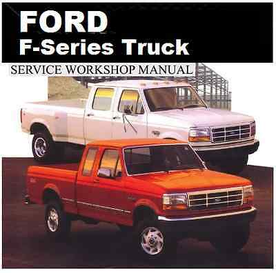 FORD F100-F150-F250-F350-F450-F550 1980-2008 WORKSHOP CD POWERSTROKE