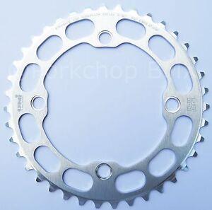 Porkchop BMX Chop Saw I single speed bicycle chainring 41T 4 bolt 104 bcd SILVER