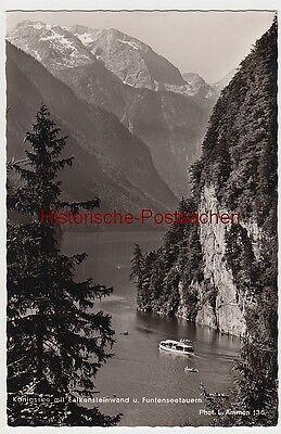 (106979) Foto Ak Königssee, Falkensteinwand, Funtenseetauern, Nach 1945