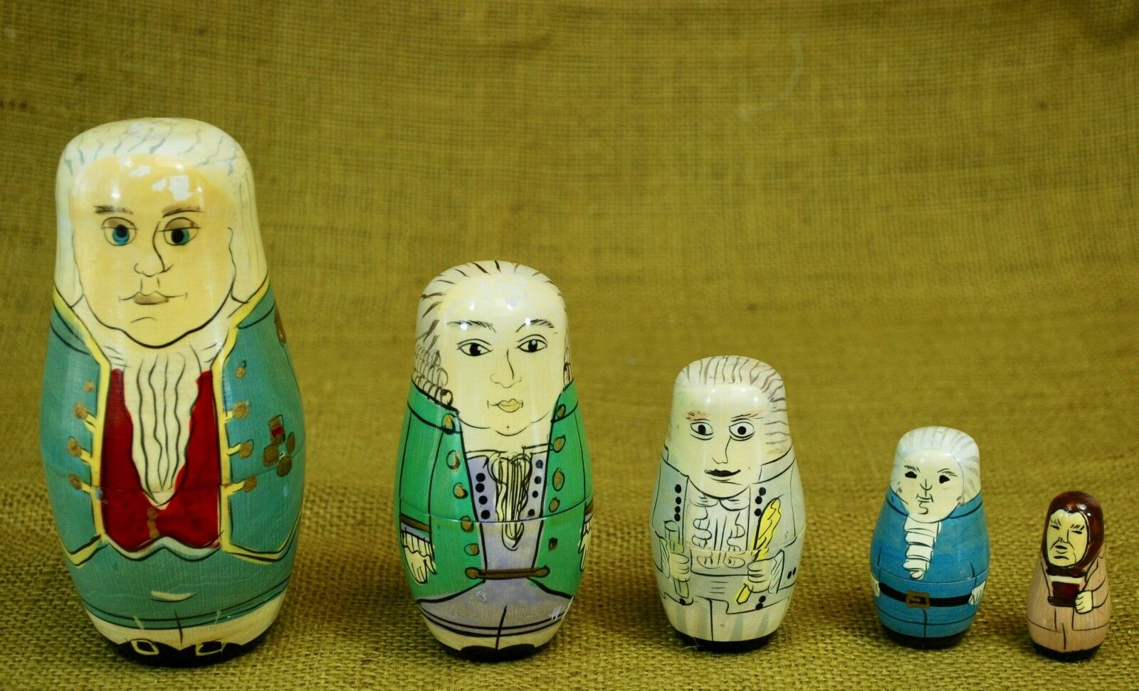 Matryoshka Babushka Nesting Dolls - AMERICAN FOUNDING FATHERS SET Washington++