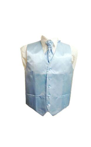 Kid Children Boy Satin Waistcoat Vest Matching Cravat Set For Suit Wedding
