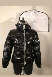 Moncler-BRANSON-Size-2-S-XSWoman-Hood-Mat-BLACK-Jacket-Coat