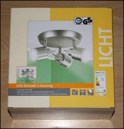 LED Deckenleuchte Rondell Titan 2706-034E Deckenlampe A ♥ 3fl 675lm 9 Watt