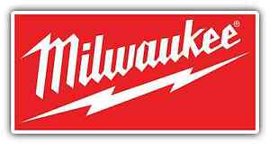 """Milwaukee Tools Decal Stickers 6.0/"""" x 2.8/"""" logo red with white background"""