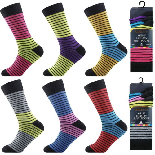 12 Pairs Men/'s Designer Socks Cotton Multi Color Suit Work Office Footwear lot