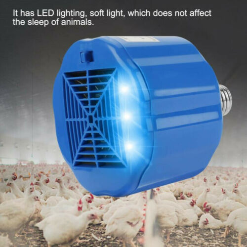 For Chicken Pigs Poultry Cultivation Heating Lamp Thermostat Fan Heater Blue 1pc
