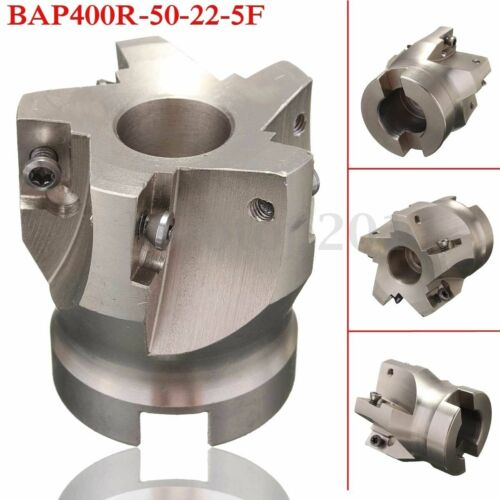 5 Flute BAP400R 50-22 50mm Indexable Face End Mill 10x APMT1604 Carbide Insert