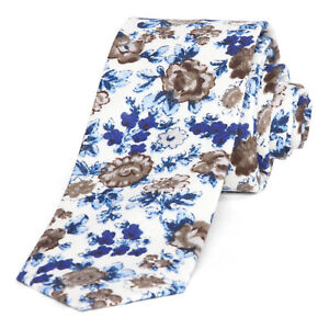 Gravity-Threads-Sophisticated-Fashion-Knit-Skinny-Neck-Ties-Blue-Floral