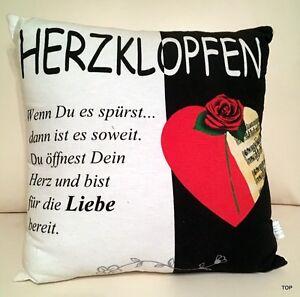 Cuscino-Herzklopfen-40-x-40-Cotone-Amore-Regalo-Compleanno-Regalo