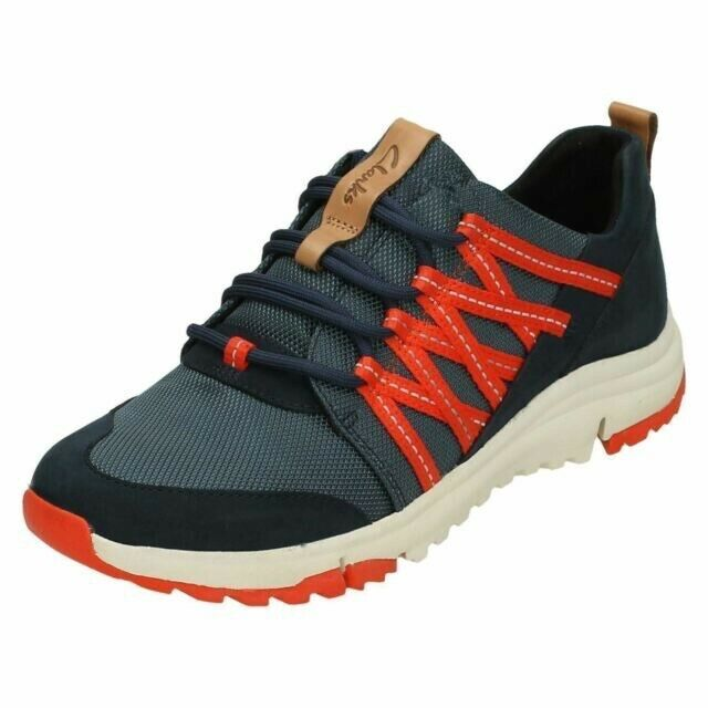 Clarks Ladies Walking Trainers 'Tri Trail' Navy combi UK SIZE 6 D