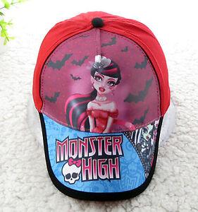 fdaf520bb4f Details about New Girls Kids Children School Monster High Cap Sports Golf  Baseball sun Hat