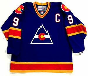 separation shoes 27c07 94bfb Details about LANNY MCDONALD COLORADO ROCKIES CCM VINTAGE JERSEY WITH