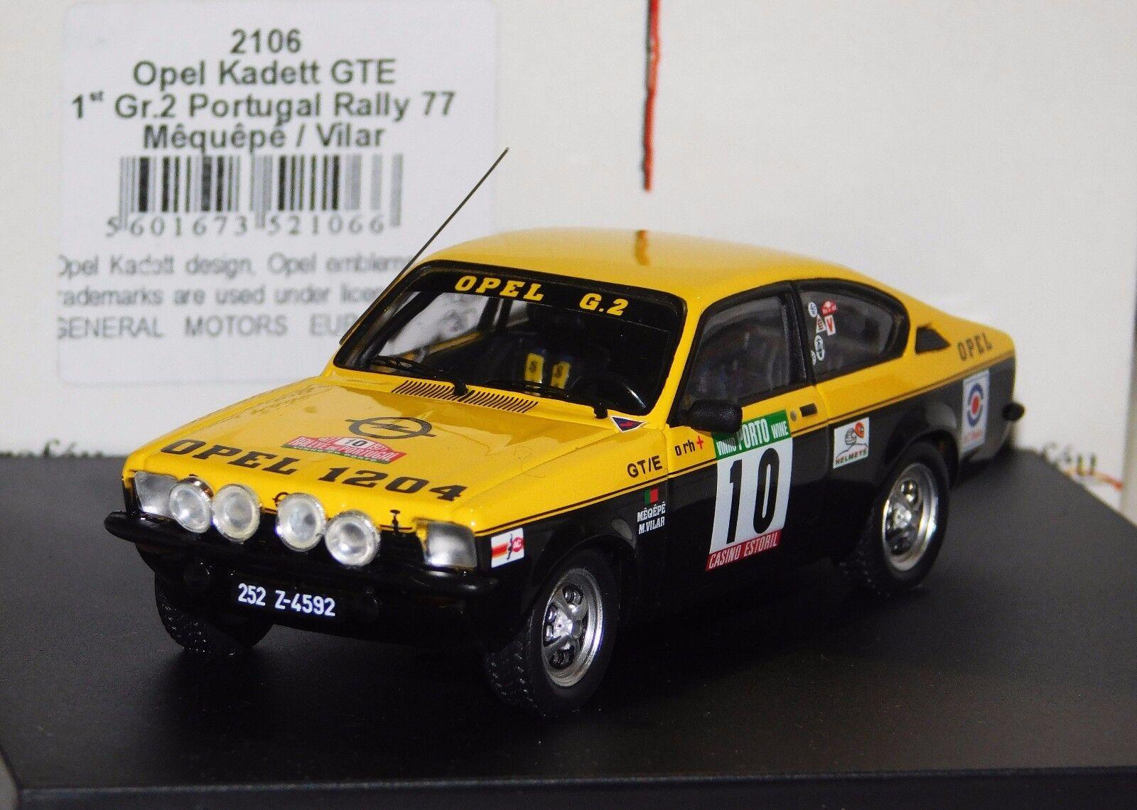 OPEL KADETT GTE  MEQUEPE VILAR WINNER GR1 PORTUGAL 1977 TROF 43