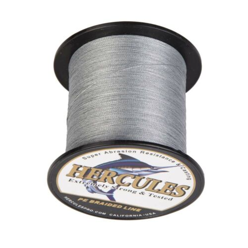 Hercules Round Grey Strengthen PE 4 Compartment abgespulte Braided Fishing Line Cord