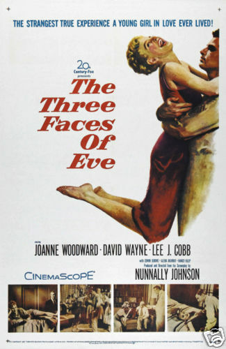 The 3 faces of Eve Joanne Woodward movie poster