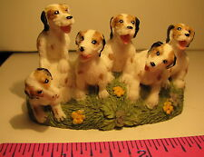 PUPPIES IN A FIELD OF GRASS & FLOWERS REFRIGERATOR MAGNET 6 DOGS FREE SHIPPING