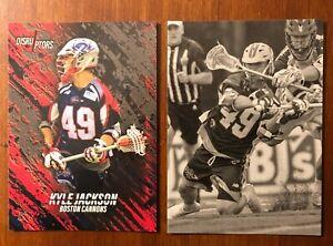 Kyle Jackson - 2 Lacrosse Card lot - Cannons LC